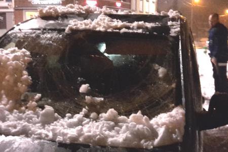 Voiture détruite : la ville de Hannut souffre de la neige !