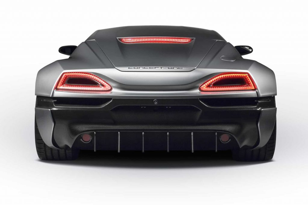 Grâce à ses 1088 ch, la Rimac Concept One passe de 0 à 100 km/h en 2,6 secondes ! 9