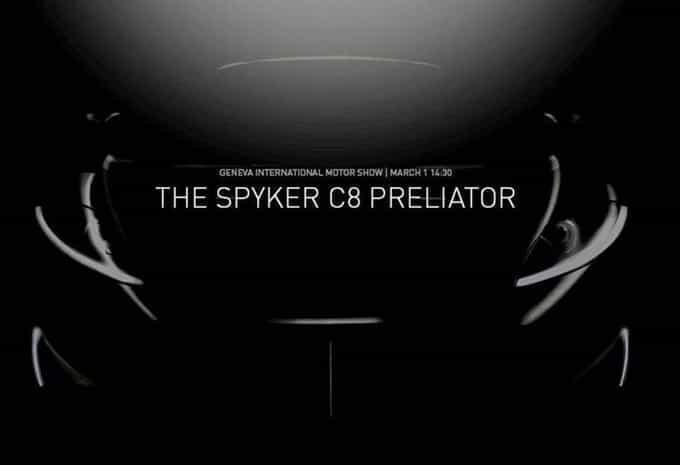 Un teaser pour annoncer le retour de Spyker 'C8 Preliator' à l'occasion du Salon de Genève