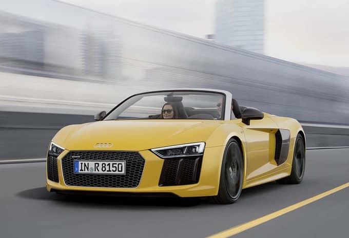 Audi présente une R8 Spyder qui rivalise avec le coupé R8 2