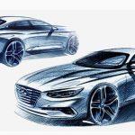 Un croquis pour donner une idée de la 6e génération de la Hyundai Grandeur