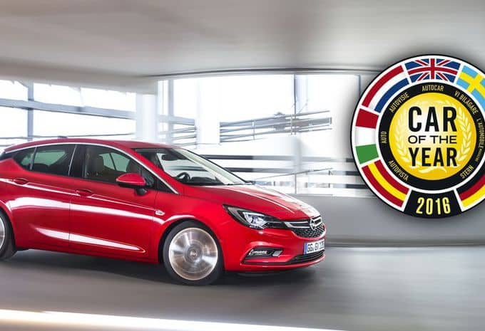 L'Opel Astra a droit au blason de « Car of the Year 2016 »