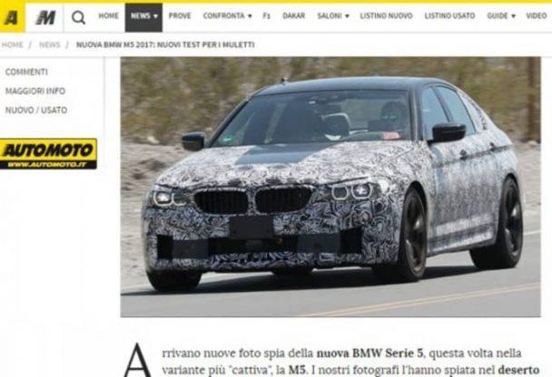 Plus de 600 ch, c'est ce que préparerait BMW pour la future M5