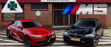 Giulia Quadrifoglio Verde vs BMW M5 : duel insolite
